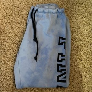 Blue Tie Dye VS Pink Sweatpants